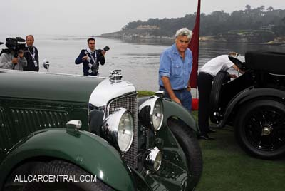 Jay Leno Bentley racecars at Pebble Beach Concours d'Elegance, 2009